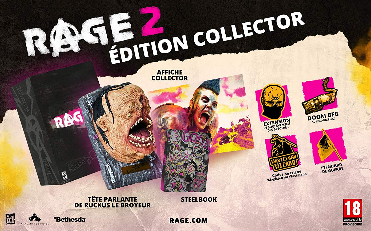 Rage 2 Edition Collector avec Steelbook