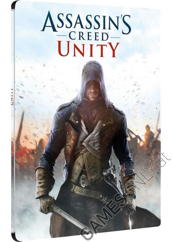 Steelbook d'Assassin's Creed Unity - 14,99 € - Lien Direct :   https://www.gamesonly.at/Assassins_Creed_5__Unity_Sammler_Steelbook_Merchandise_11655.html