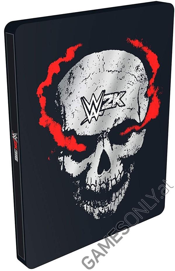 Steelbook WWE 2K16 - 14,99 € - Lien Direct :  https://www.gamesonly.at/WWE_2K16_Merchandise_11647.html