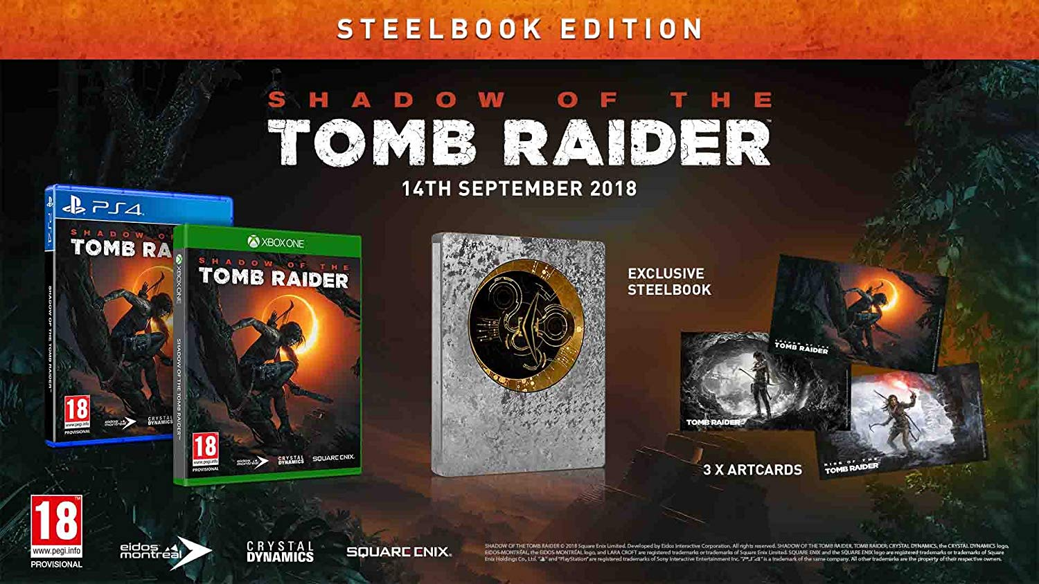 Edition Steelbook Shadow Of The Tomb raider