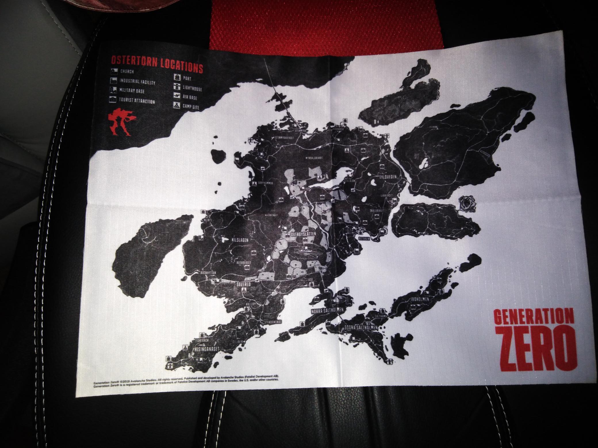 La carte format A3 en Tissu,