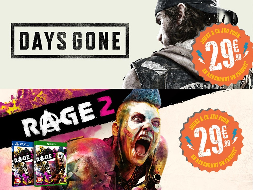 Offre Micromania Rage 2 et Days Gone