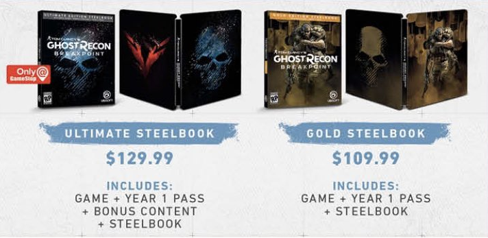 steelbook ghost recon breakpoint