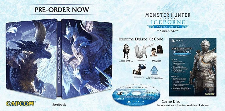 Steelbook monster hunter world iceborne
