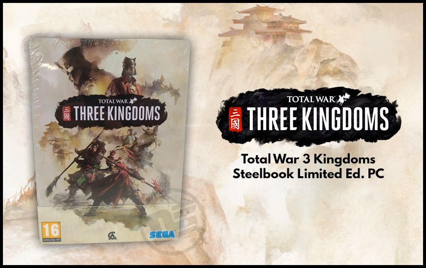 steelbook total war three kingdoms