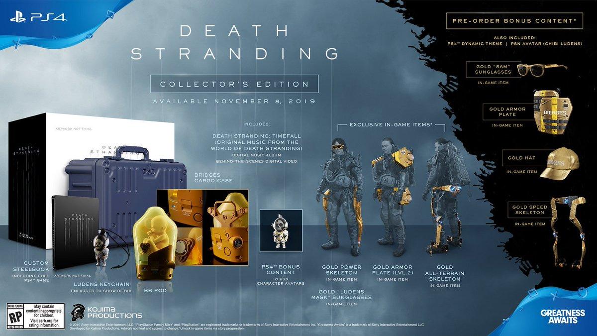 edition collector death stranding