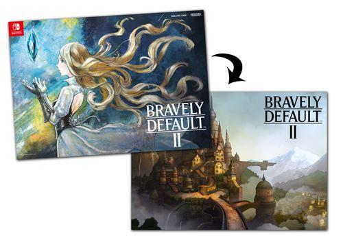 Bonus-de-precommande-Poster-Bravely-Default-II-pour-Nintendo-Switch