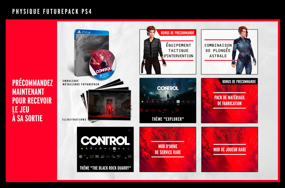 Contenu de l'Edition PS4 avec le FuturePak