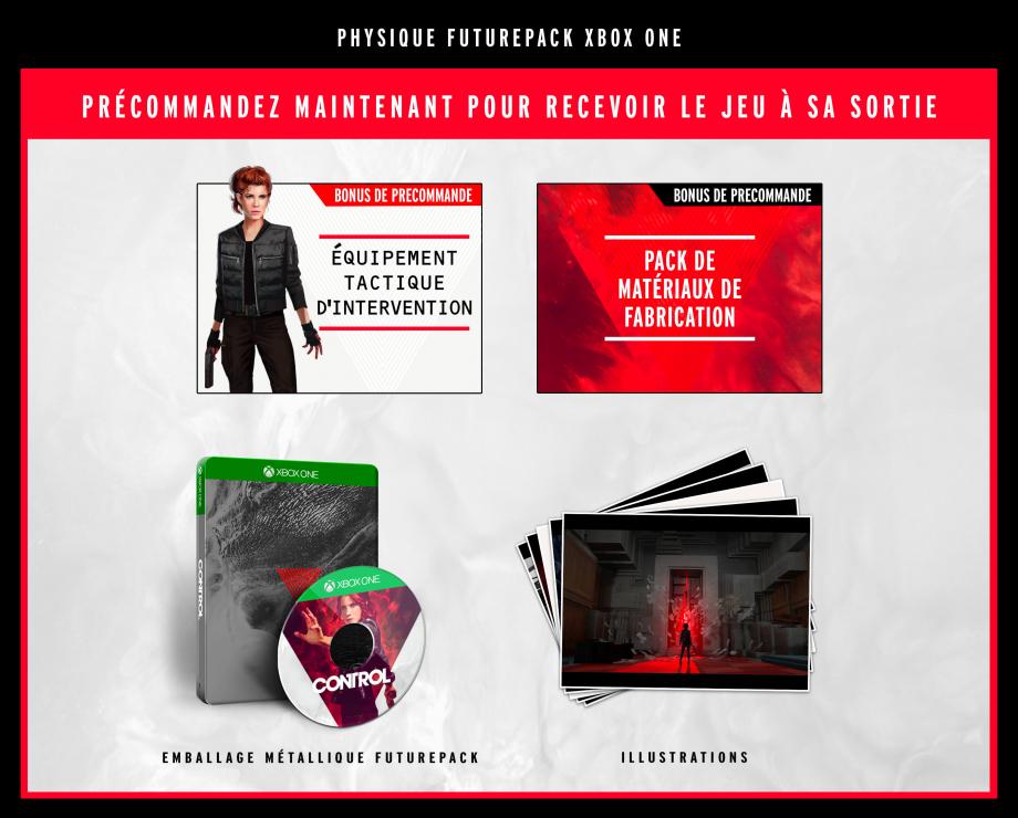 Contenu de l'Edition Xbox One avec le FuturePak