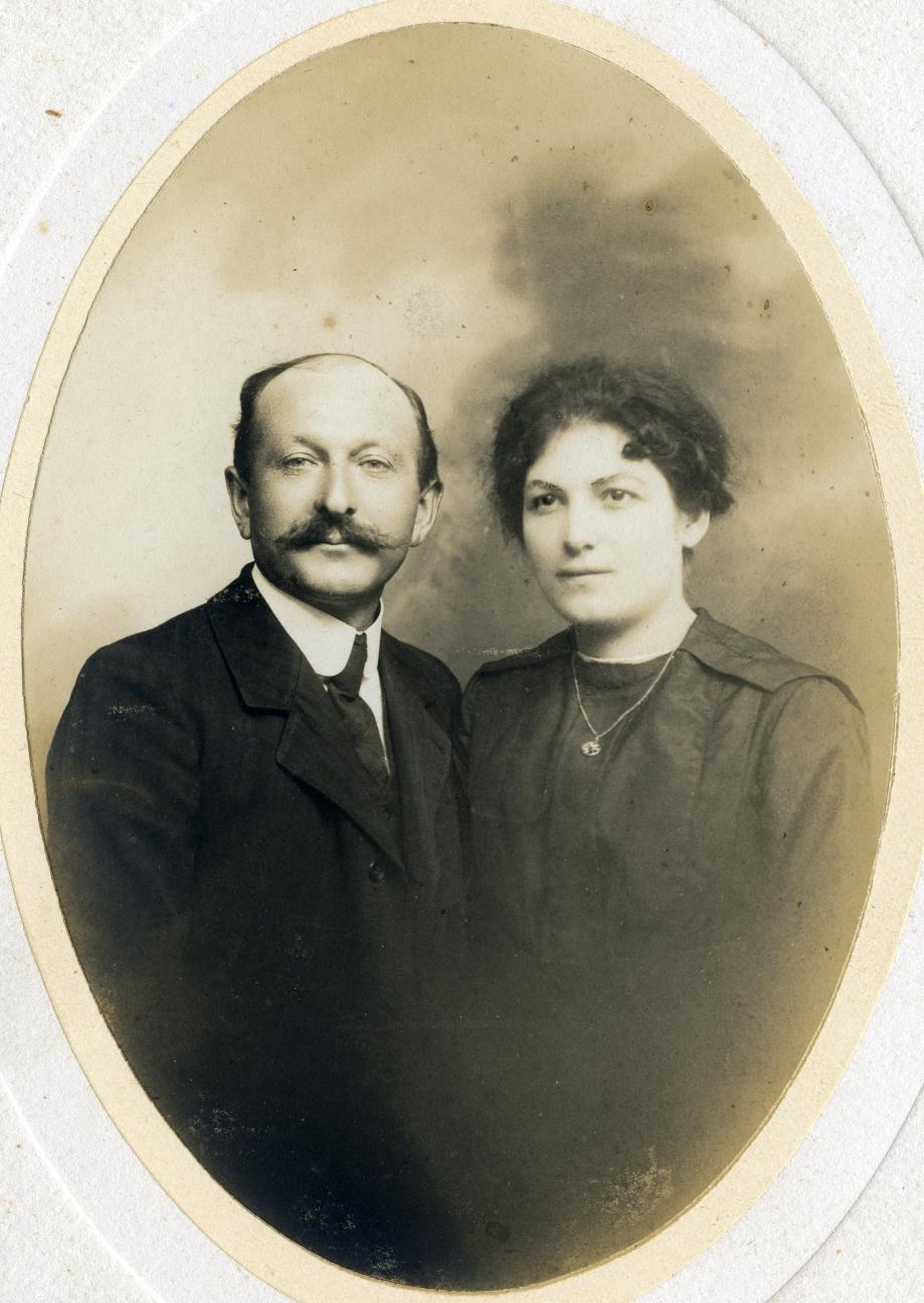 Arthur DÉTHARET (1876/1953) et sa seconde épouse, Marie GAUDEL (1896/1976) Coll. Mireille PION