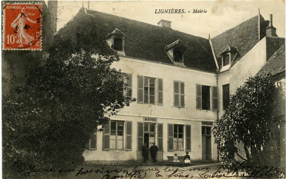 Ancienne mairie de Lignières de 1858 à 1936 - Rue du Dr Bonnet Actuelle salle des