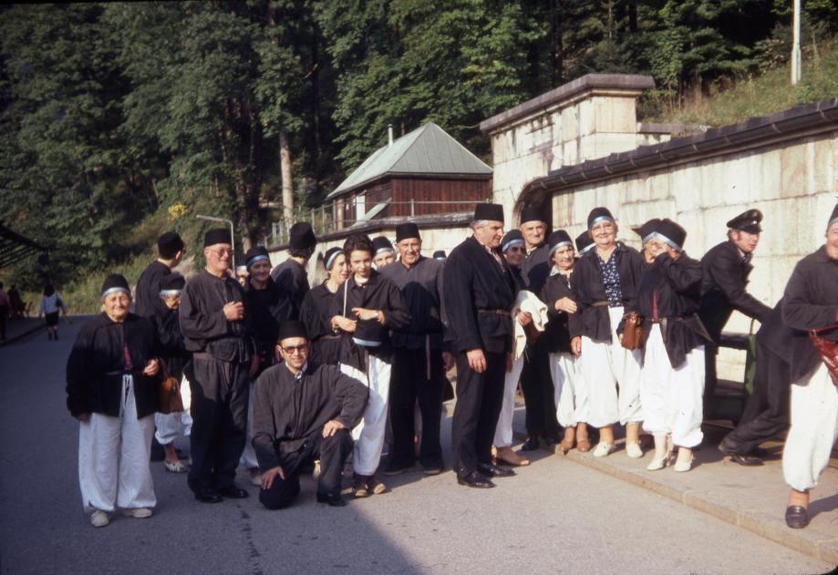 Voyage paroissial aux mines de sel d'Oberammergau, en Bavière - Septembre 1980 (Coll. Michel SOCHAIS)