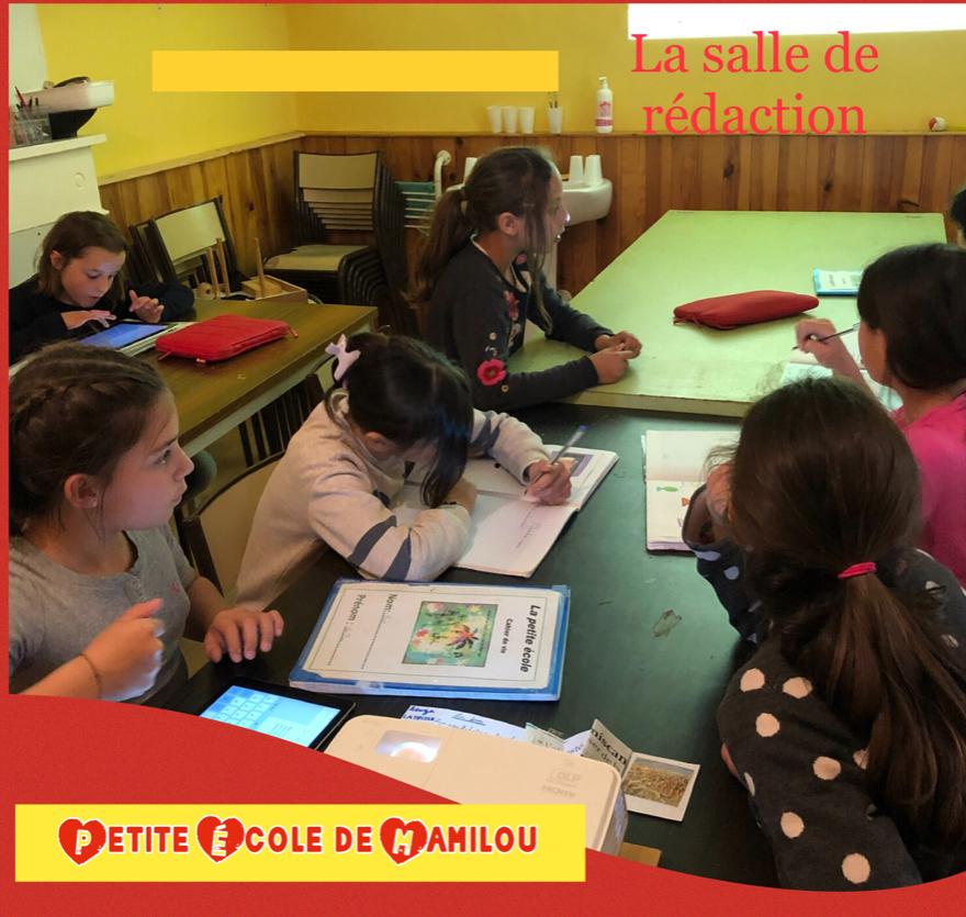 Atelier à l'école de Simorre.