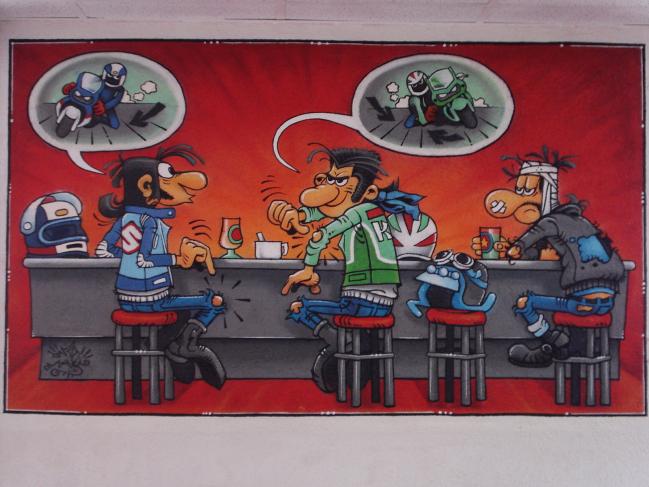 graff intérieur de magasin de moto (Annecy)