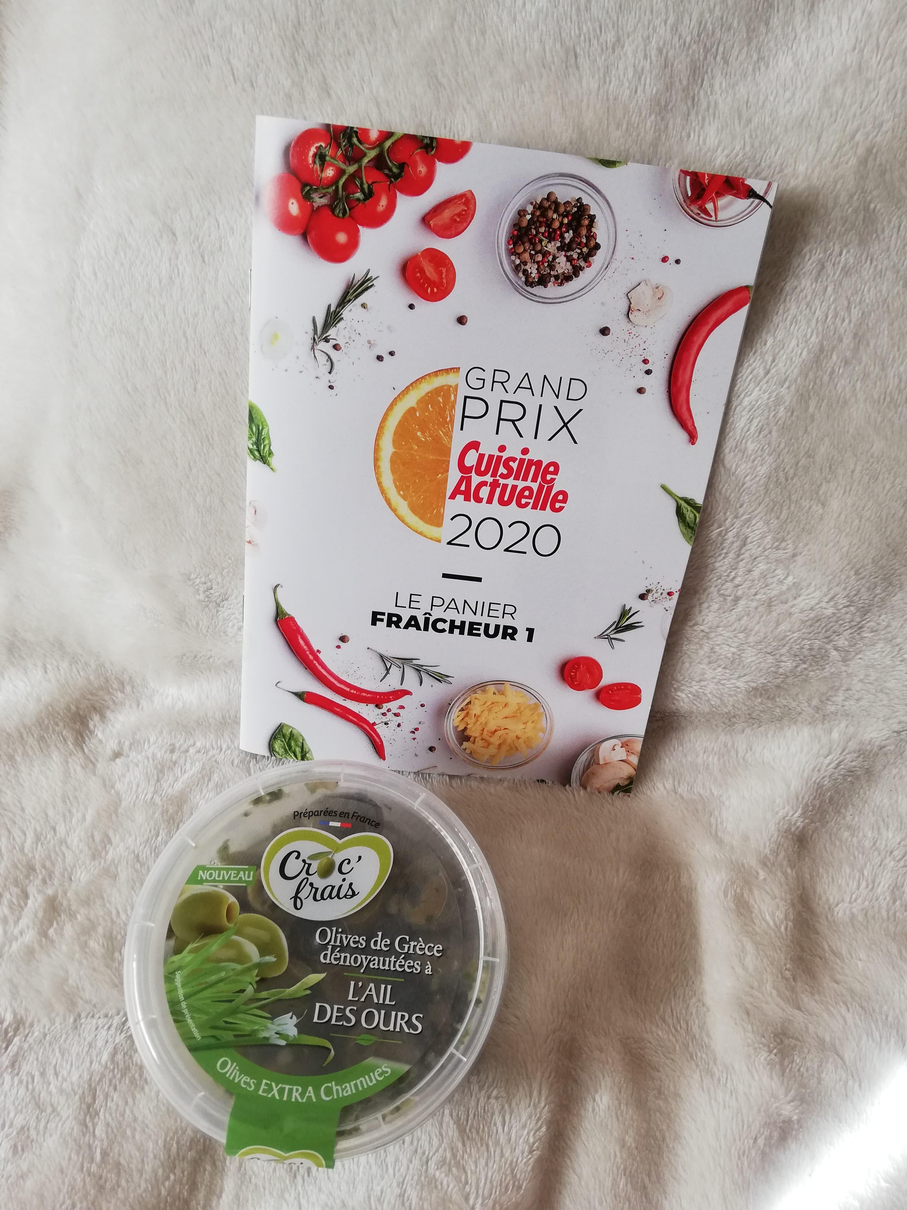 Croc frais Olives à l' ail des ours  (Prix moyen conseillé 2,95 €)