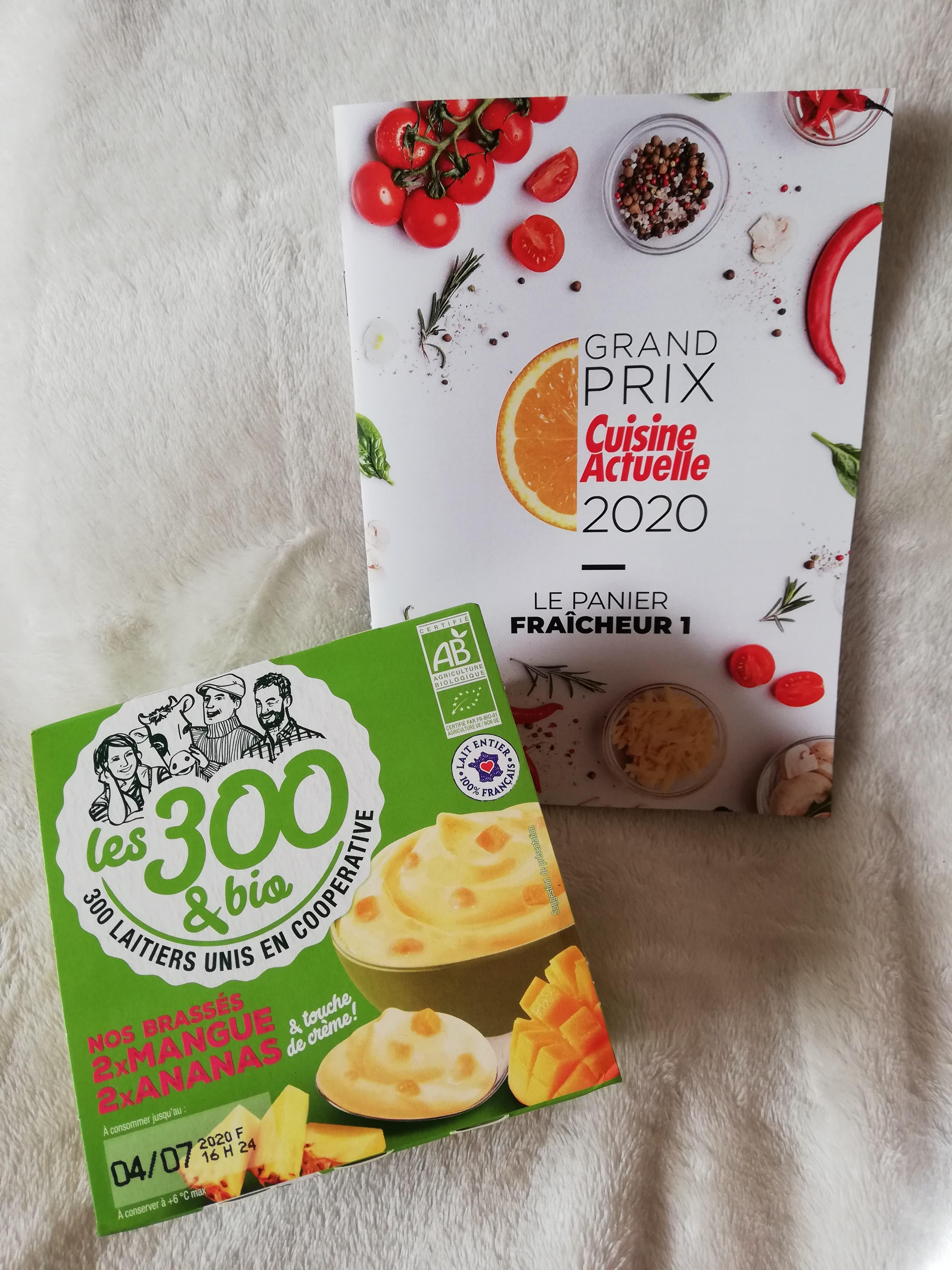 Les 300 & Bio Brassés mangue et ananas (prix moyen conseillé 1,95 €)