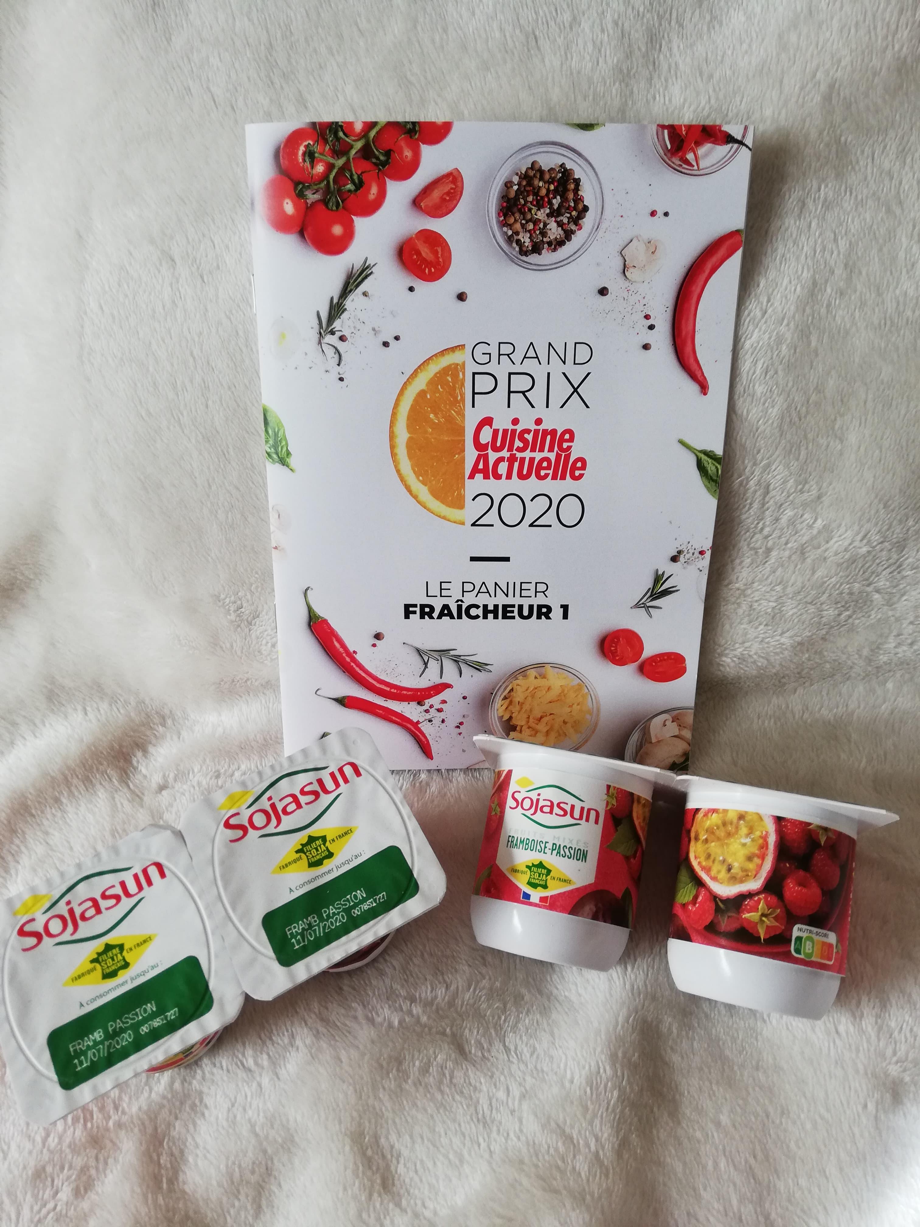 Sojasun Framboise - Passion (prix moyen conseillé 1,65 €)