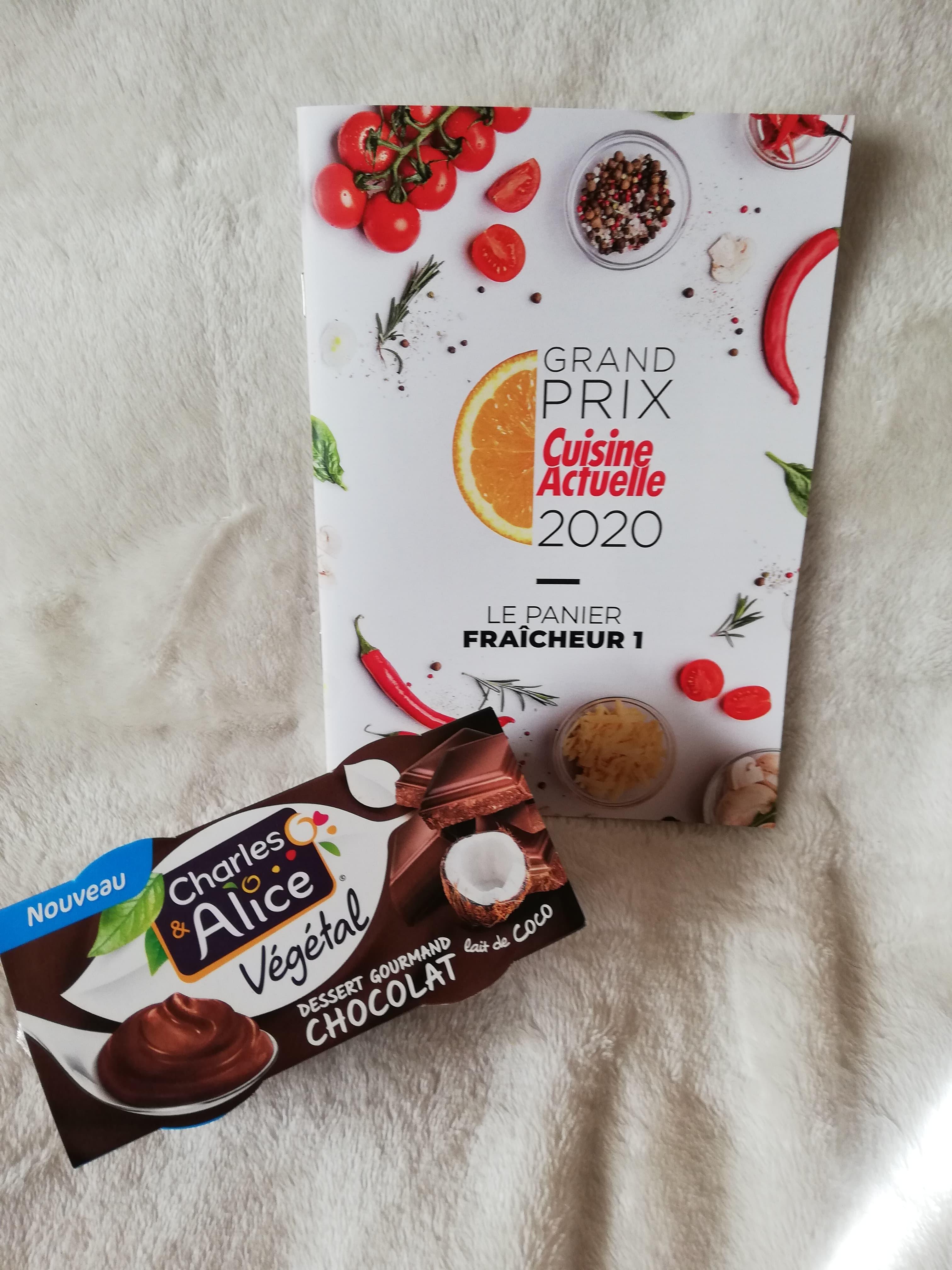 Charles et Alice Dessert gourmand chocolat et lait de coco (prix moyen conseillé 1,99 €)