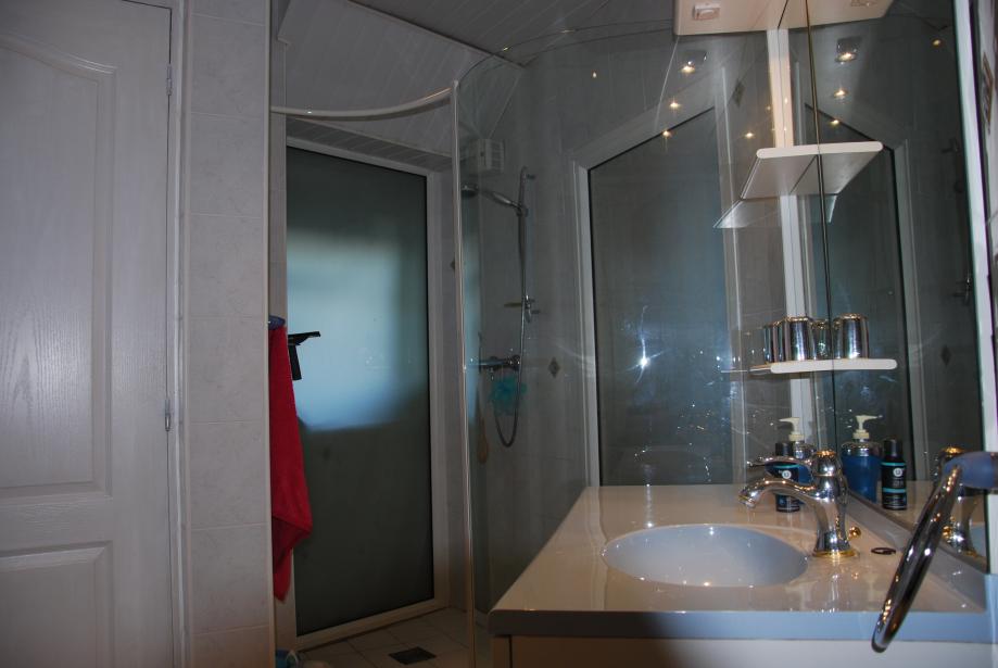salle d'eau avec douche à l'italienne (chambre n°2)