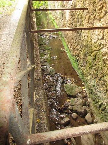 Un infime filet d'eau sous le tunnel de Raunelnité.jpg