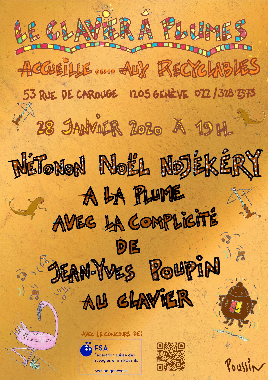 Affiche clavier é plume avec Nétonon Noël Ndjékéry
