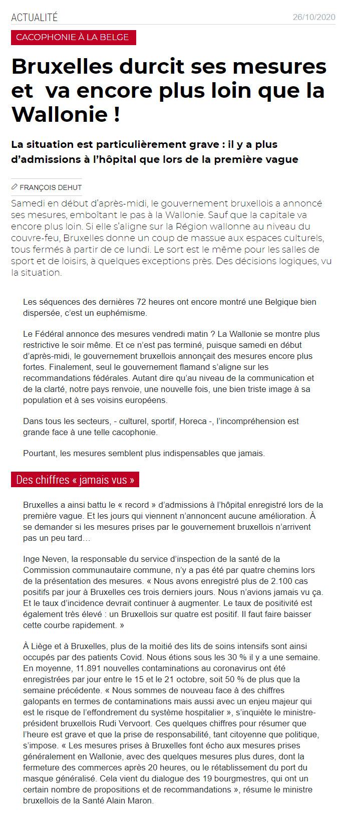 Cacophonie à la Belge - 26 oct