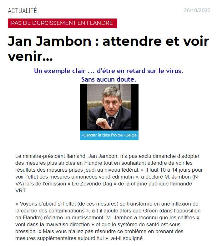 Jan Jambon - en retard - 26 oct