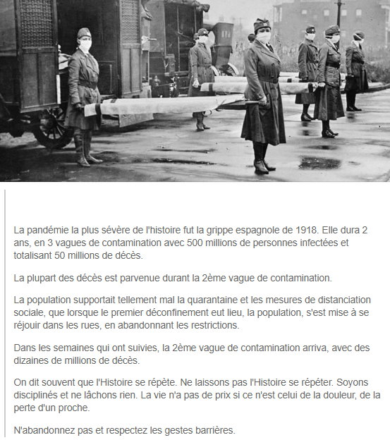 La grippe Espagnole - 1918