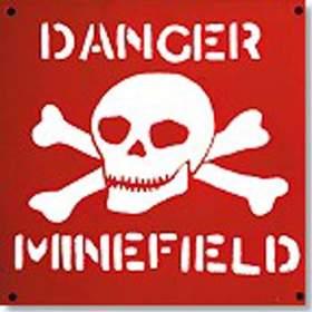 Minefield warning