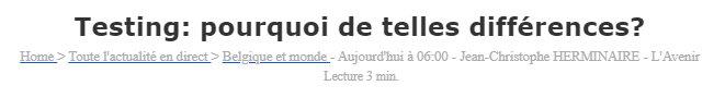 News clip - testing - lavenir - 29 juillet