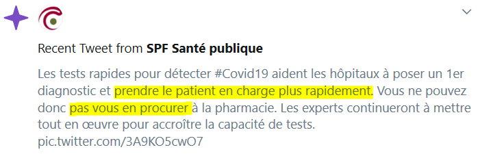 Policy from SPF Santé publique - 30 mars