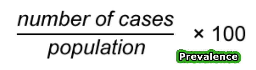 Prevalence formula