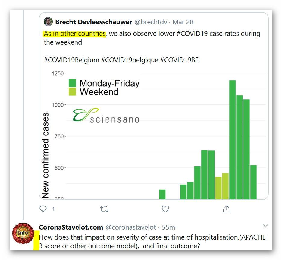 Réponse de Seansano sur la réduction des tests les week-end