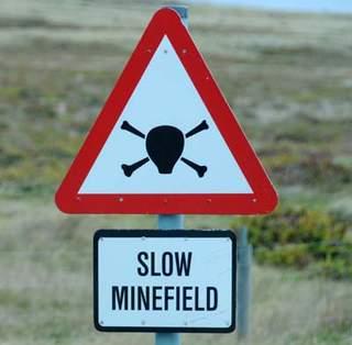 Slow minefield