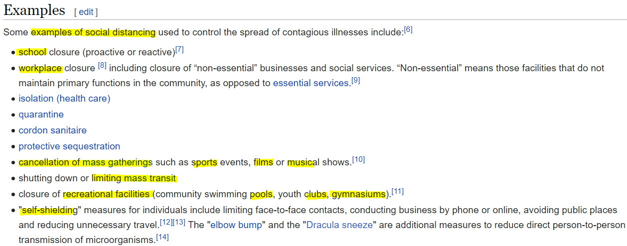 Wikipedia Social Distancing