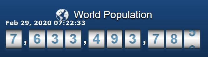 World Pop Clock c Time
