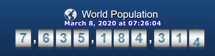 World Pop - Mar 8