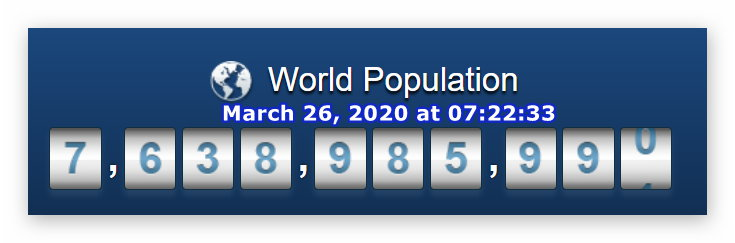World Pop - March 26, 2020