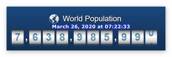 World Pop - March 26, 2020