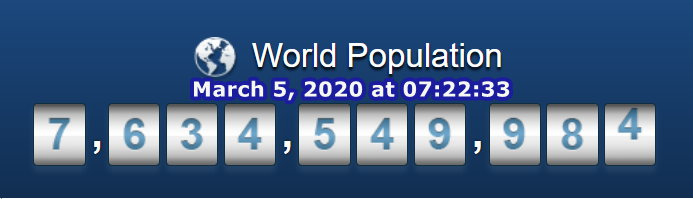 World Pop March 5, 2020 at 7h22m33s