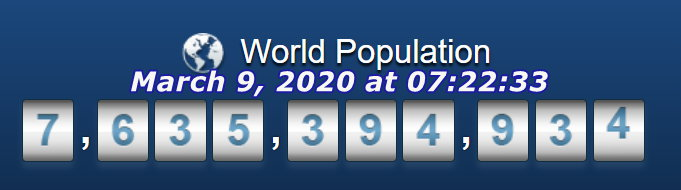 World Pop - March 9, 2020 at 07h22m33s