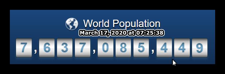 World Populatio - March 17