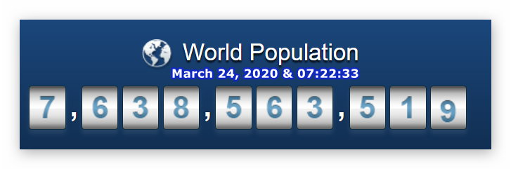 World Population - 24 March at 07h22m33s