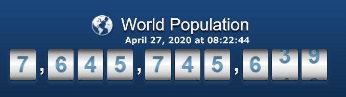 World Population - 27 April at 08h22m44s