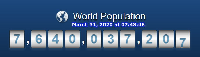World Population - 31 March at 07h48m48s