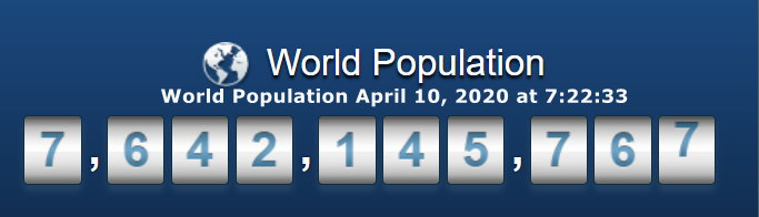 World Population April 10 at 7h22m33s