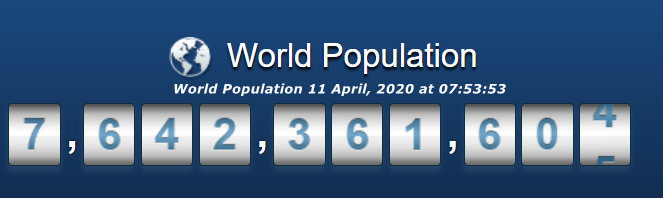 World Population April 11, 2020 at 07h53m53s