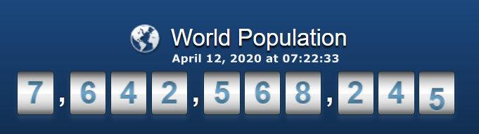 World Population - April 12, 2020 at 07h22m33s