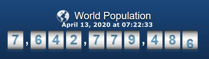 World Population - April 13 at 07h22m33s