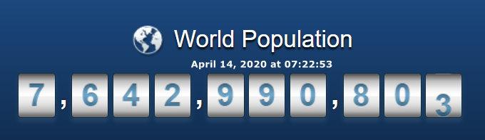 World Population - April 14, 2020 at 07h22m53s